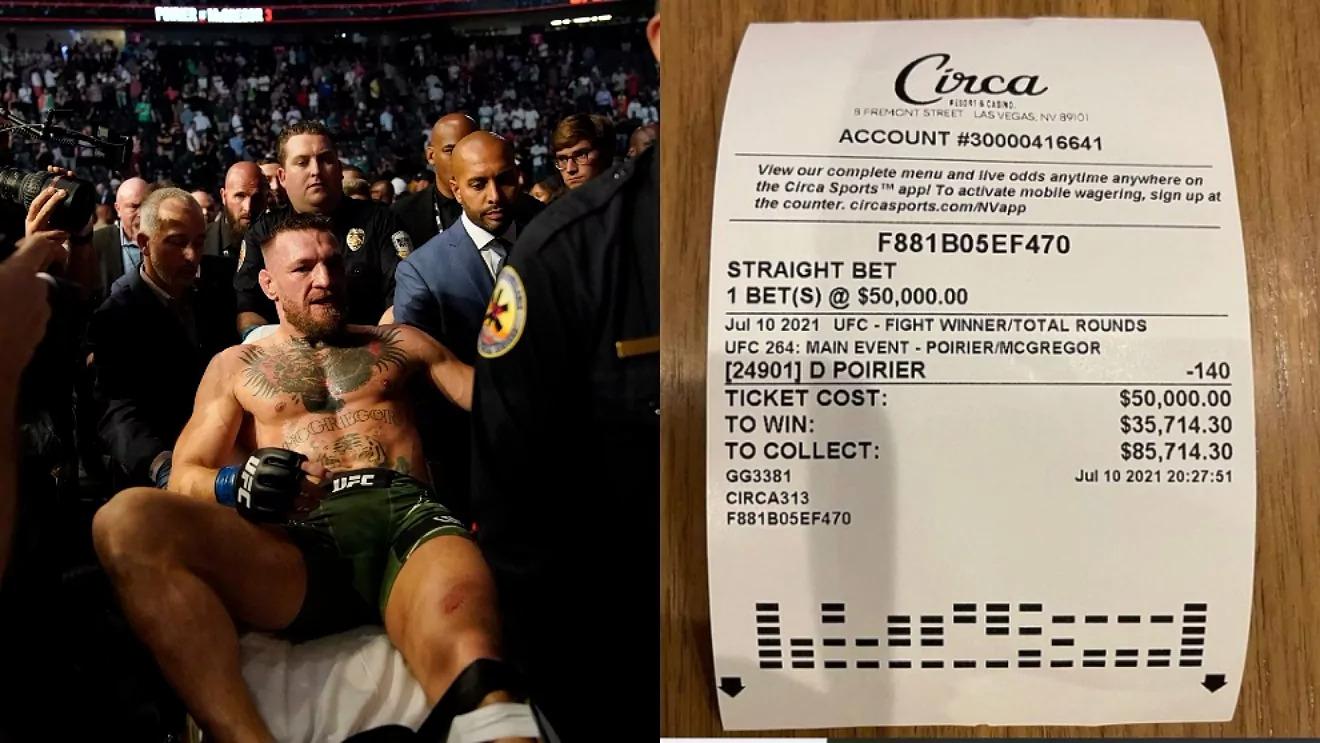 Mayweather khoe hoá đơn thắng cược sau khi McGregor thua Poirier.