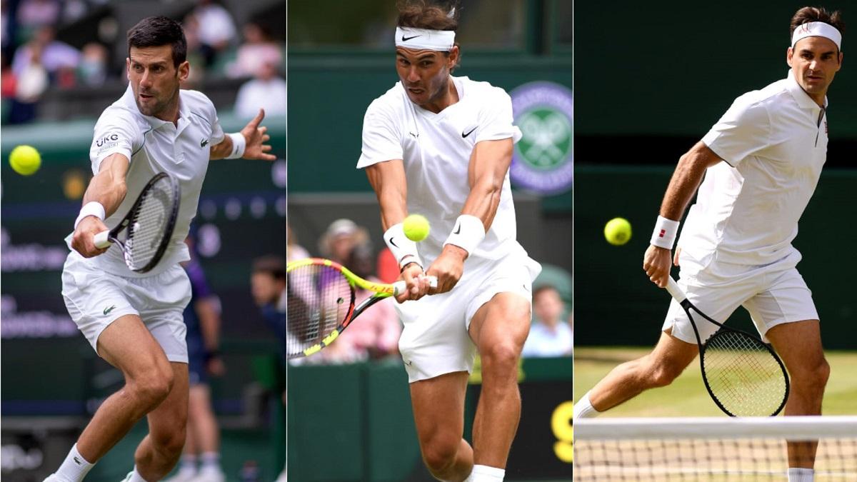 The Big 3 menang 8 dan tidak pernah kalah satu kali pun ketika mereka bertemu pemain di bawah 30 tahun di final Grand Slam.  Foto: Tennishead