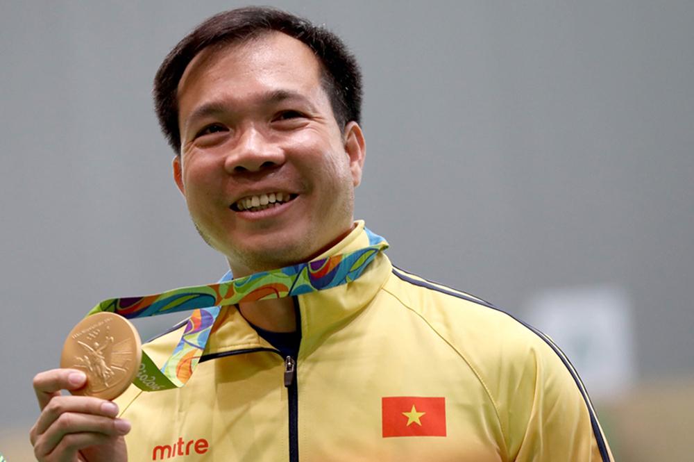 Shooter Hoang Xuan Vinh won the 2016 Olympic gold medal.