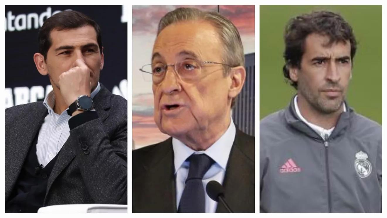Perez (tengah) terkena fitnah Casillas (kiri) dan Raul (kanan).  Foto: Marca