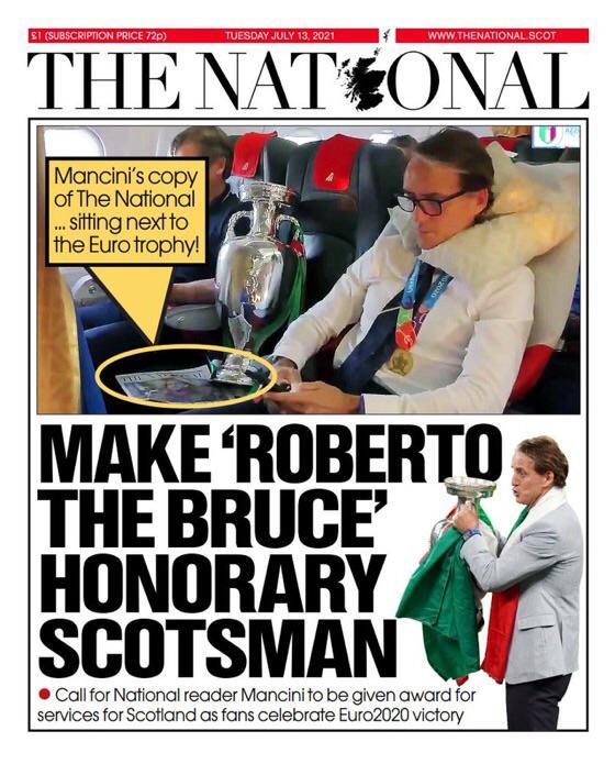 Halaman depan The National pada 13 Juli.  Foto: Reddit