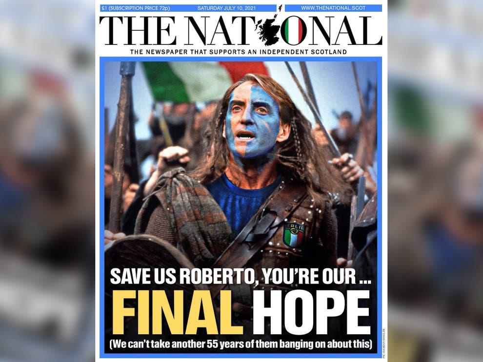Halaman depan The National pada 10 Juli.  Foto: Independen