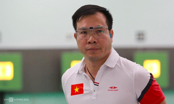 Tugas mencapai final Olimpiade Tokyo bersama Hoang Xuan Vinh mungkin lebih sulit lagi ketika ia meraih medali emas Olimpiade 2016. Foto: Xuan Binh