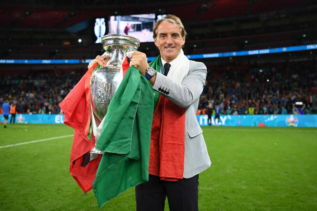 Mancini mencapai tingkat kemenangan 72% dengan Italia, jumlah terbaik dalam karir kepelatihannya.  Foto: Gol