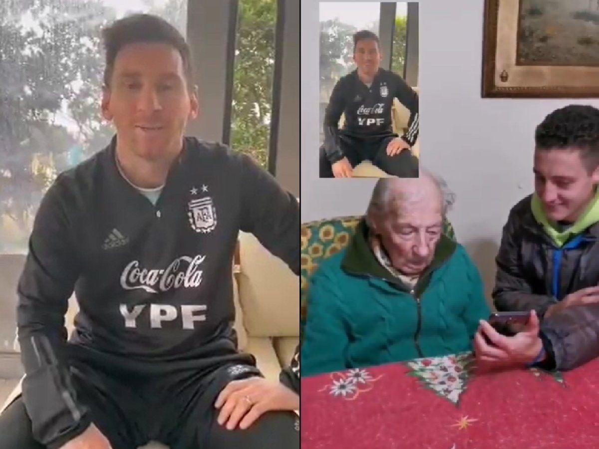 Mastrangelo menangis saat menerima pesan terima kasih dari Messi.