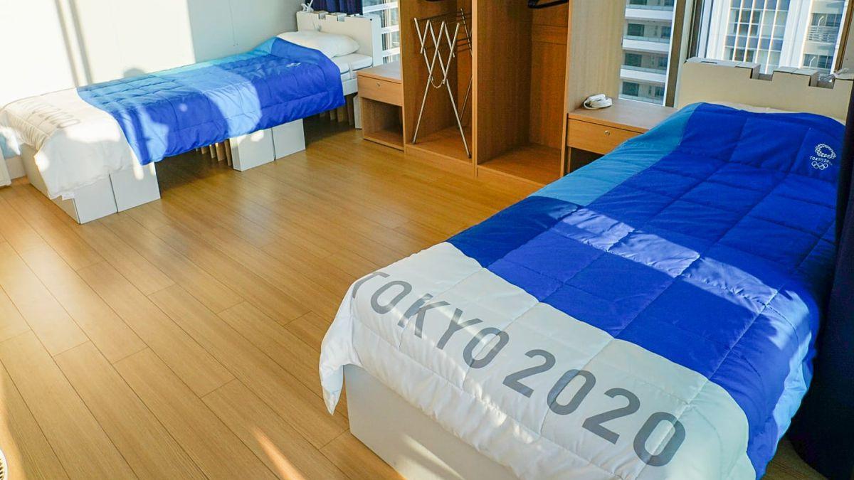 Những chiếc giường được sử dụng ở Olympic Tokyo. Ảnh: IOC
