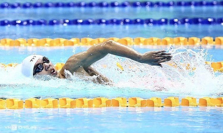 Perenang berusia 21 tahun Nguyen Huy Hoang bisa menjadi perenang Vietnam pertama yang mencapai final Olimpiade.  Foto: Pham Duong