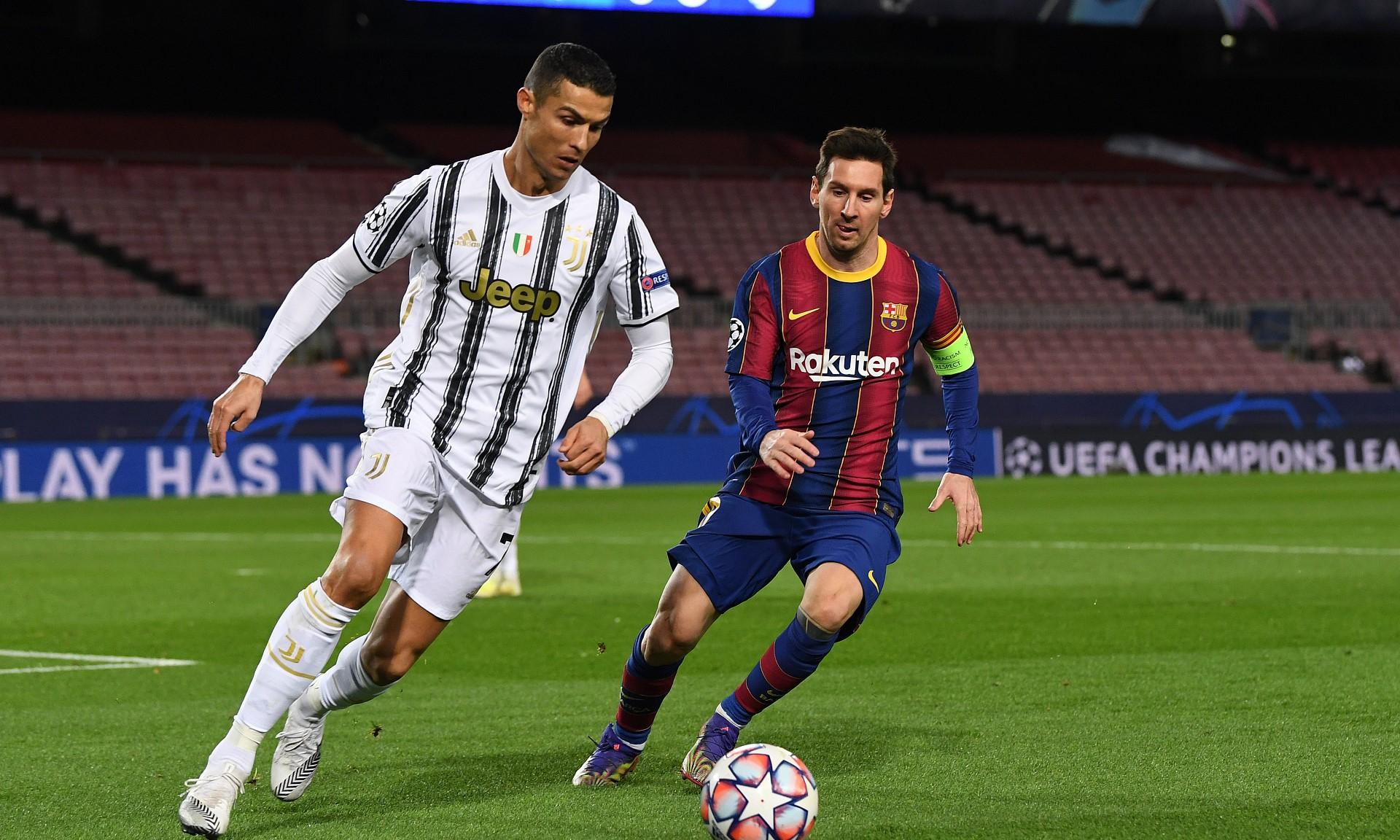 Ronaldo dalam laga Juventus melawan Barca Desember lalu.  Foto: Reuters.