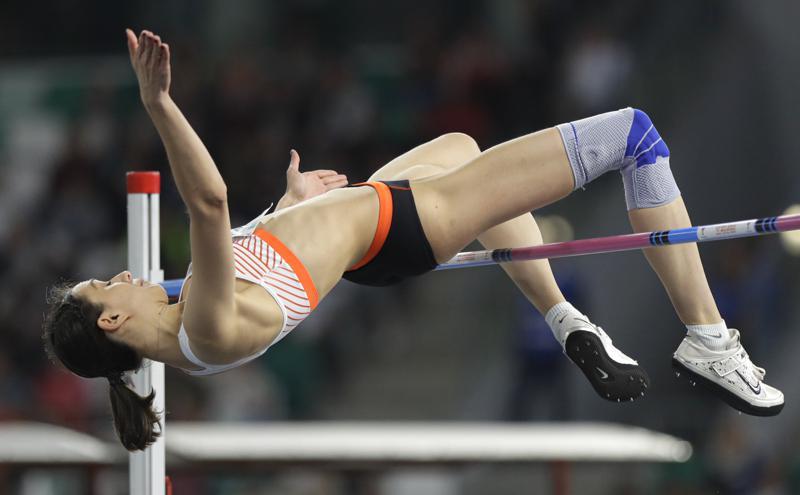 Mariya Lasitskene - three-time world champion, is the ROC's hope in the high jump.  Photo: AP