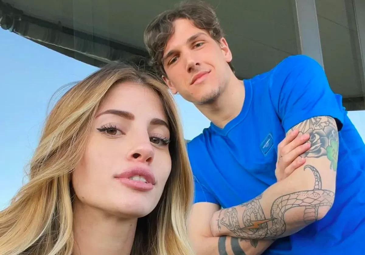Scaperotta và Zaniolo khi còn tình cảm. Ảnh: Instagram.