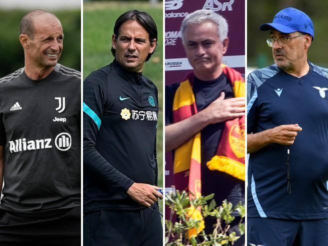 Allegri ở Juventus, Inzaghi ở Inter, Mourinho ở Roma và Sarri ở Lazio được chờ đợi sẽ mang lại những nét hấp dẫn mới lạ cho Serie A.