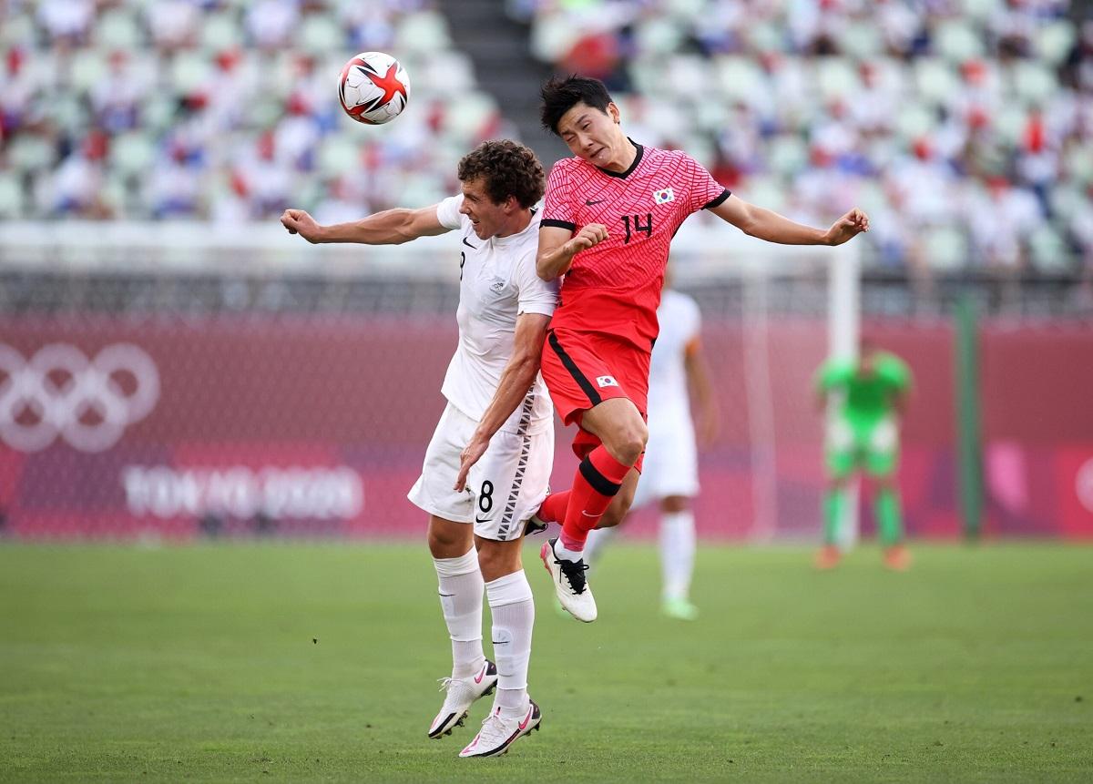 Ở cấp ĐTQG, Hàn Quốc hơn New Zealand 89 bậc trên bảng điểm FIFA. Ảnh: KBS