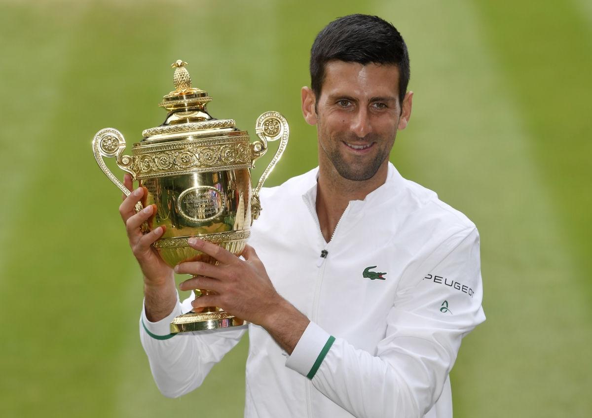 Nhờ vô địch Wimbledon 2021, Djokovic là người đầu tiên kiếm được hơn 150 triệu USD tiền thưởng. Ảnh: Wimbledon