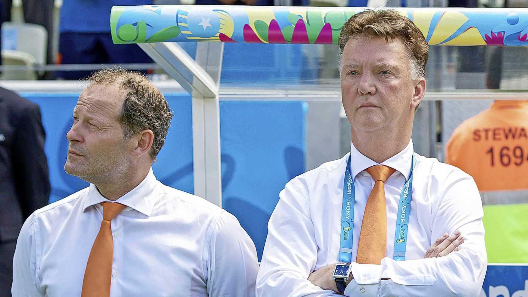 Van Gaal và Blind sẽ lại sát cánh trong sứ mệnh mới mà cũ - dẫn dắt tuyển Hà Lan. Ảnh: HH/ANP