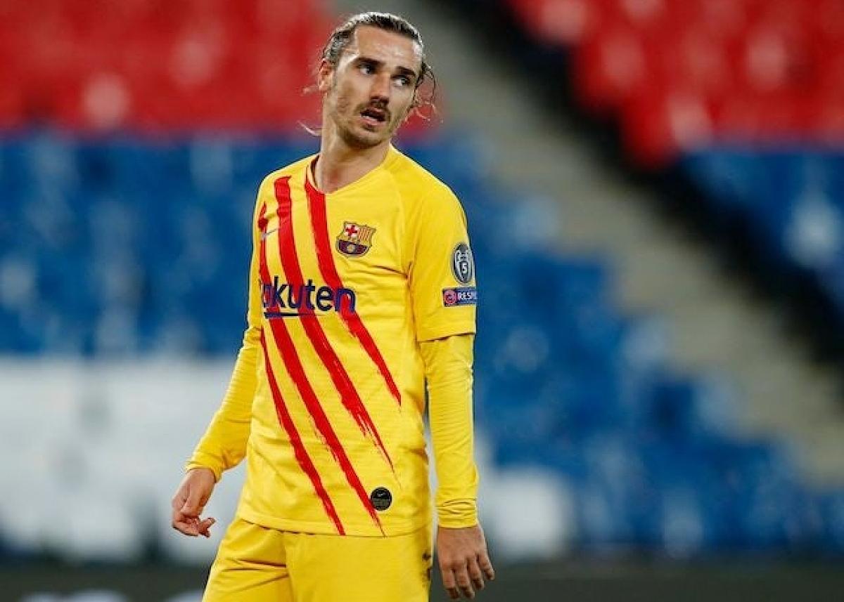 Barca vẫn chưa thể đẩy Griezmann, hay Coutinho và Dembele ra đi. Ảnh: Reuters
