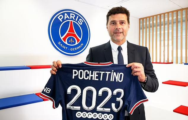 Pochettino gia hạn đến năm 2023. Ảnh: PSG.