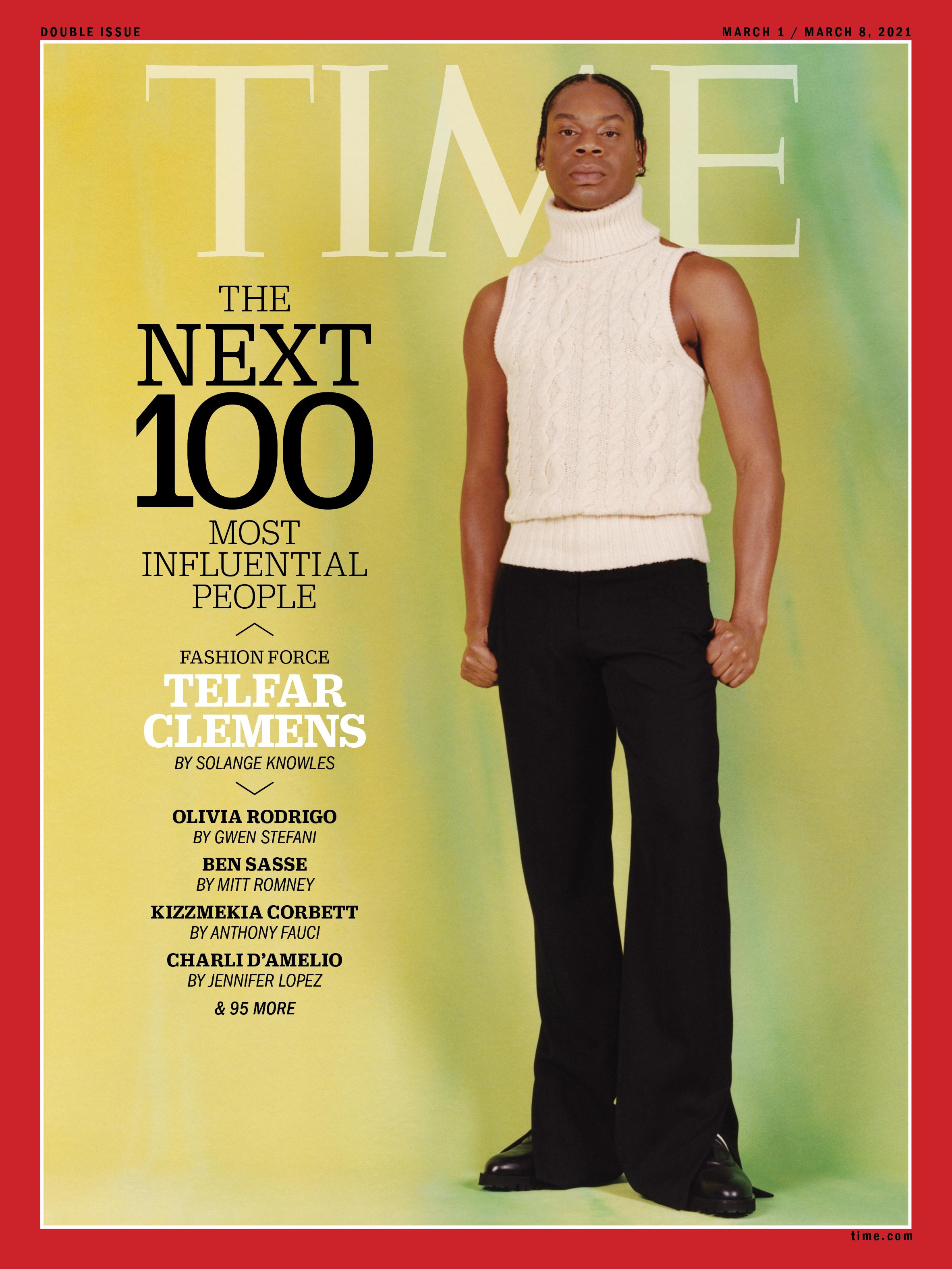 Telfar Clemens từng vào top 100 người ảnh hưởng của tạp chí Times, nhưng anh chỉ thật sự được biết đến rộng rãi hơn qua bộ trang phục phá cách cho đoàn Libertia tại Olympic 2020. Ảnh: Time.com