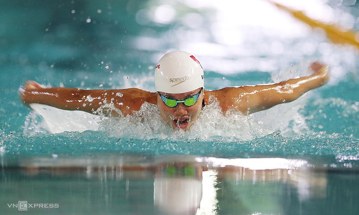 Ánh Viên khó vượt qua vòng loại 200m tự do nữ, nếu không phá được kỷ lục cá nhân. Ảnh: Đức Đồng