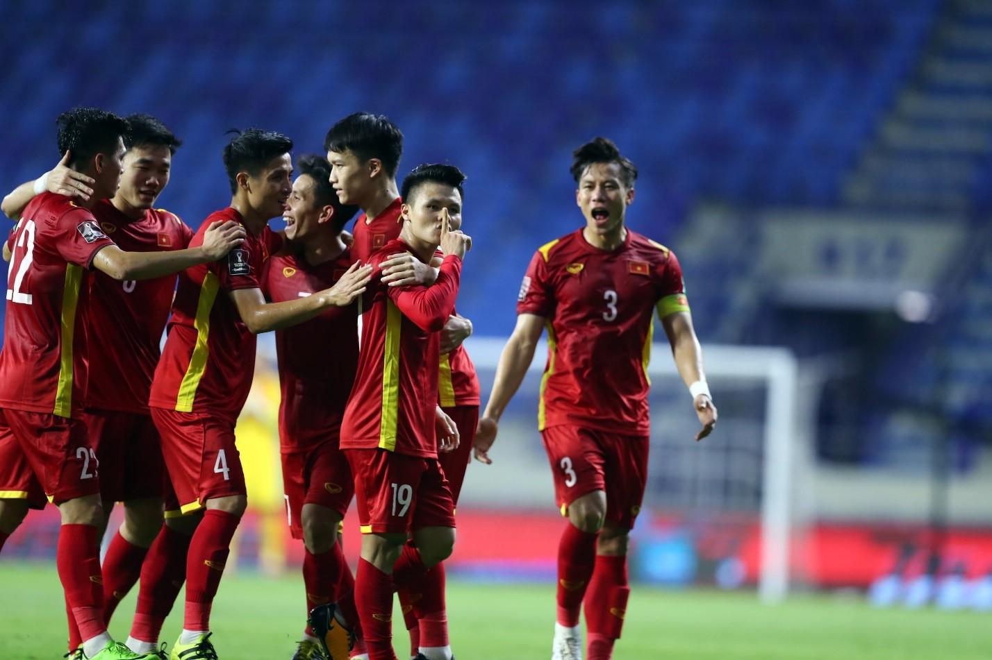 Herbalife Việt Nam kỳ vọng trở thành hậu phương vững chắc cho đội tuyển bóng đá quốc gia Việt Nam. Ảnh: VFF.