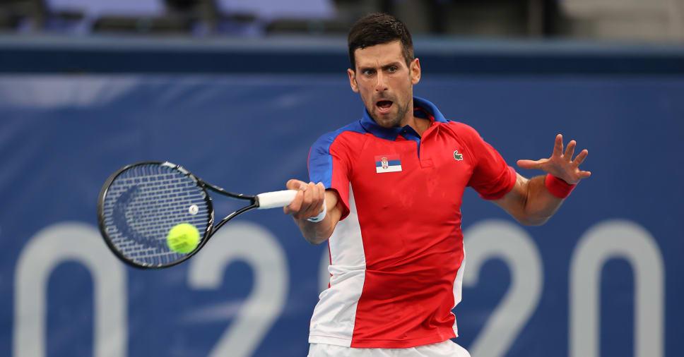 Djokovic langsung melaju ke semifinal, hanya kalah 15 game.  Foto: NBC