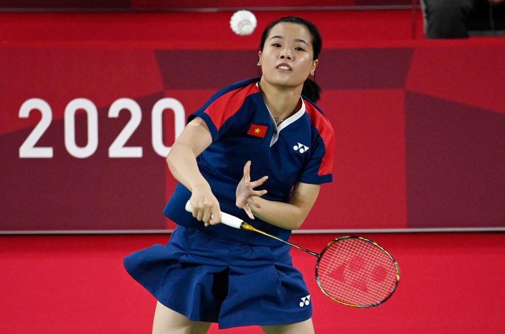 Thuỳ Linh đánh bại hai đối thủ có thứ bậc cao hơn và chỉ thua tay vợt số một thế giới trong lần đầu dự Olympic. Ảnh: AFP