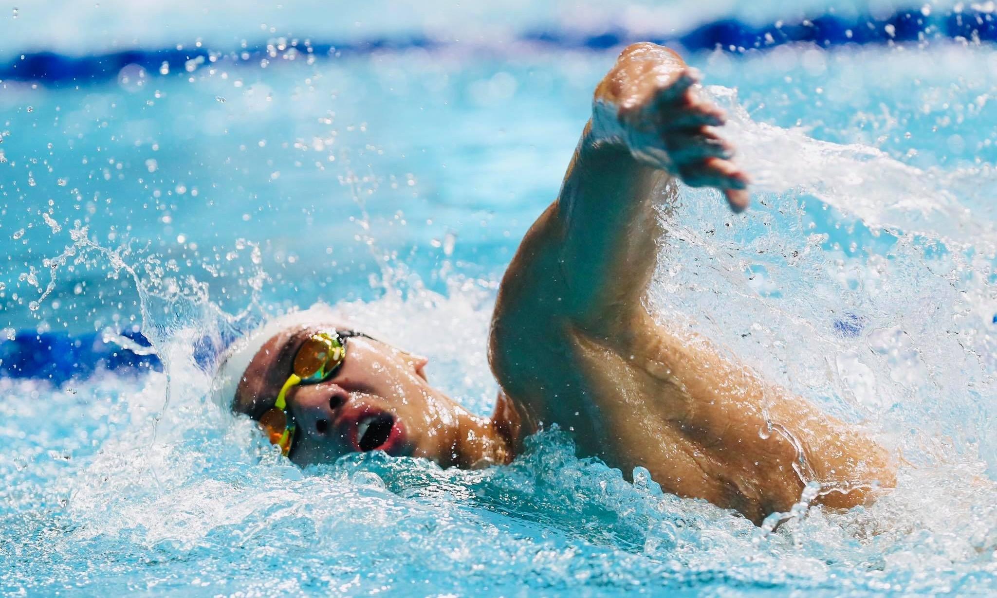 Huy Hoàng sẽ tham gia nội dung cuối cùng của bơi lội Việt Nam tại Olympic 2020. Ảnh: Đức Đồng.