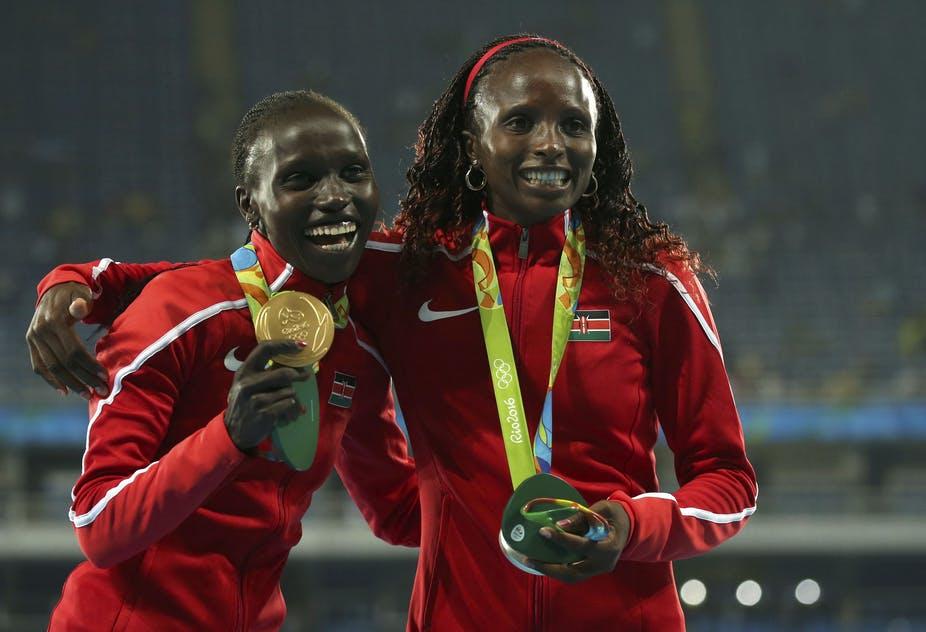 Điền kinh đã đem lại sáu HC vàng, sáu bạc và một đồng cho đoàn Kenya tại Olympic 2016. Ảnh: Reuters.