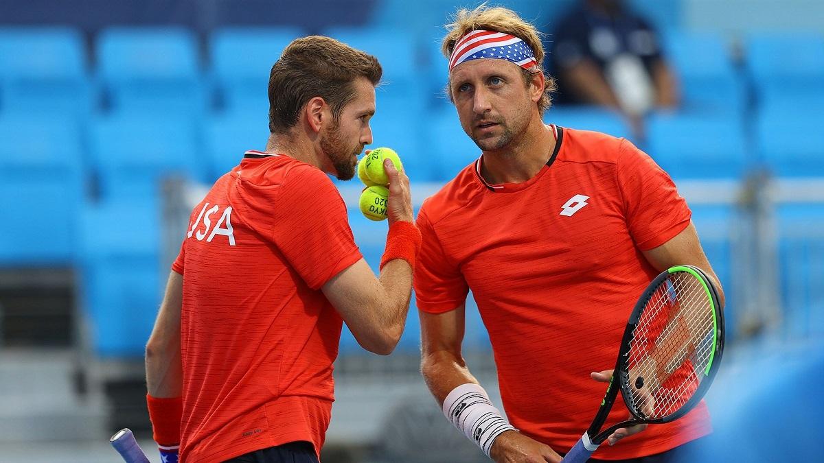 Krajicek và Sandgren lỡ cơ hội giành huy chương quần vợt cho Mỹ tại Olympic Tokyo. Ảnh: NBC