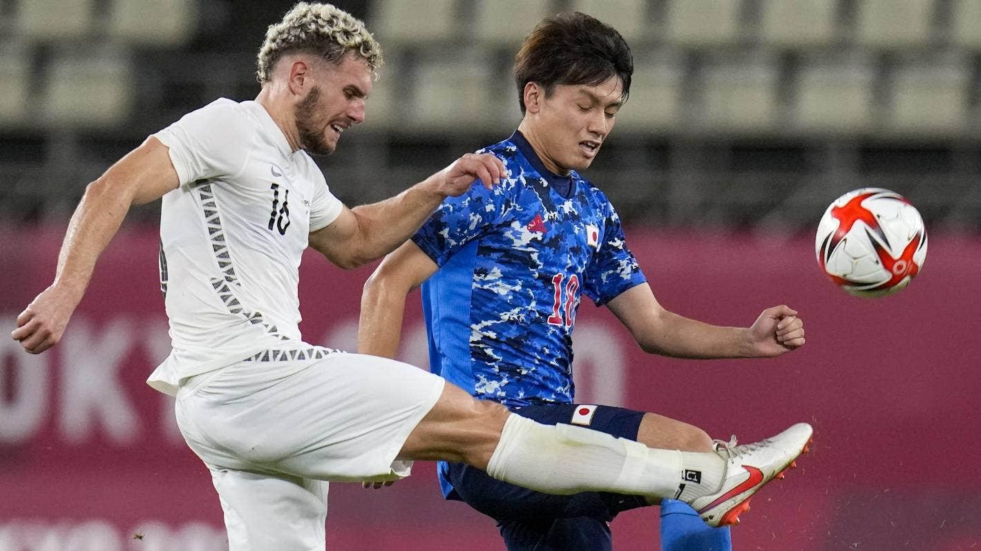 Nhật Bản có nhiều cơ hội, nhưng không thể cụ thể hoá thành bàn trước New Zealand. Ảnh: AP