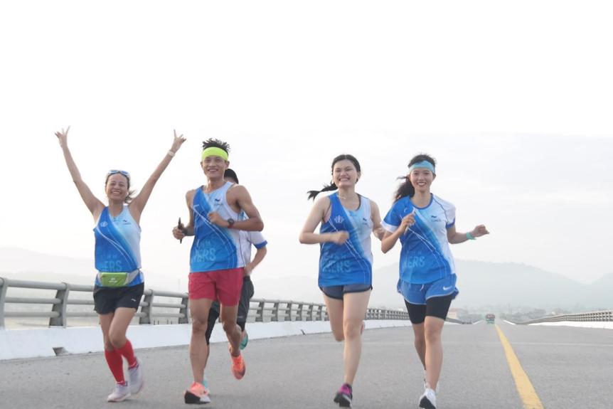 Runner HTR hào hứng tham gia hoạt động Hà Tĩnh kiên cường. Ảnh: NVCC