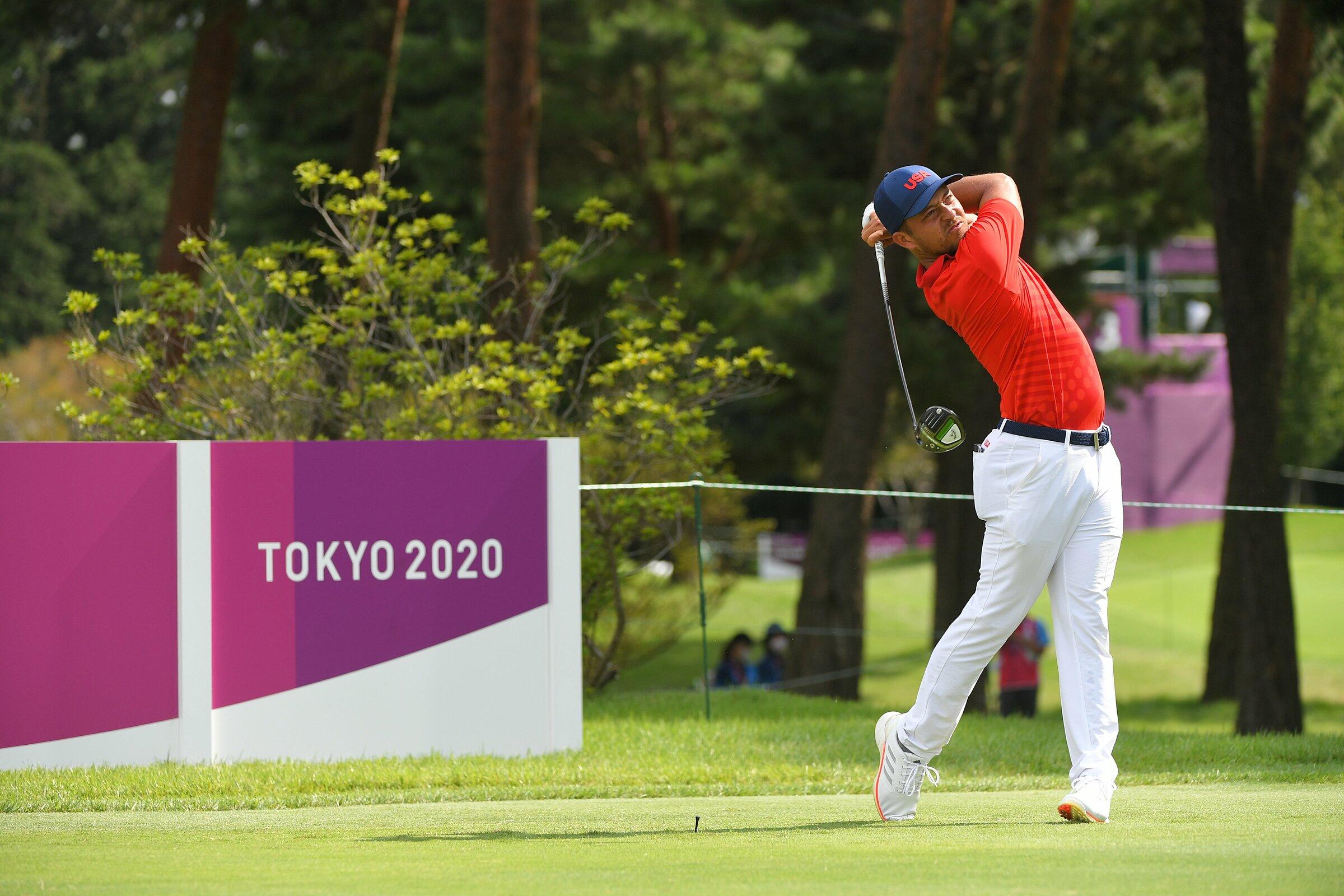 Schauffele adalah salah satu pegolf yang menyelesaikan putaran kedua pada 30 Juli dan mempertahankan puncak klasemen.  Foto: Tokyo 2020