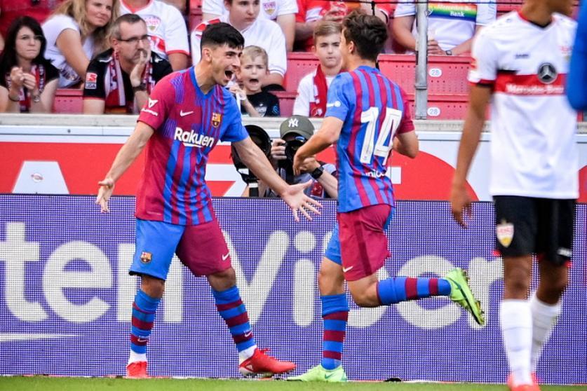 Demir และ Gavira ฉลองเป้าหมายที่สองของ Barca