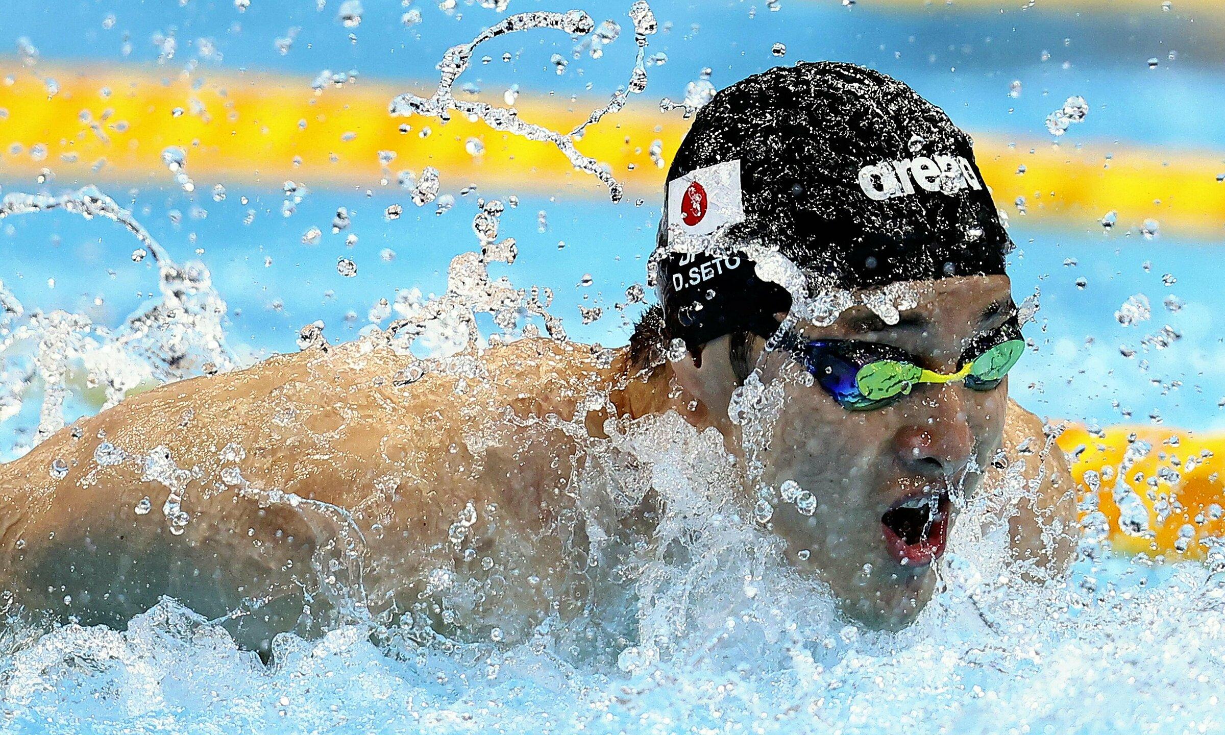 Seto trên đường bơi chung kết 200m cá nhân hỗn hợp hôm 30/7. Ảnh: Yomiuri Shimbun