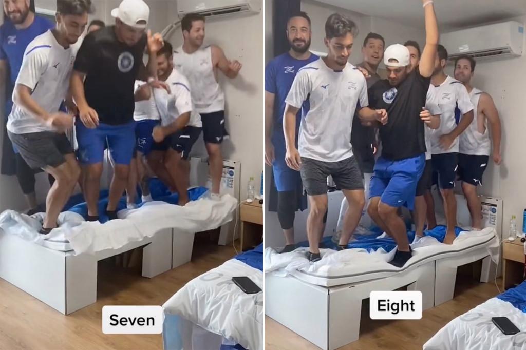 Trò đùa bị chỉ trích của đội bóng chày Israel. Ảnh: Chụp màn hình