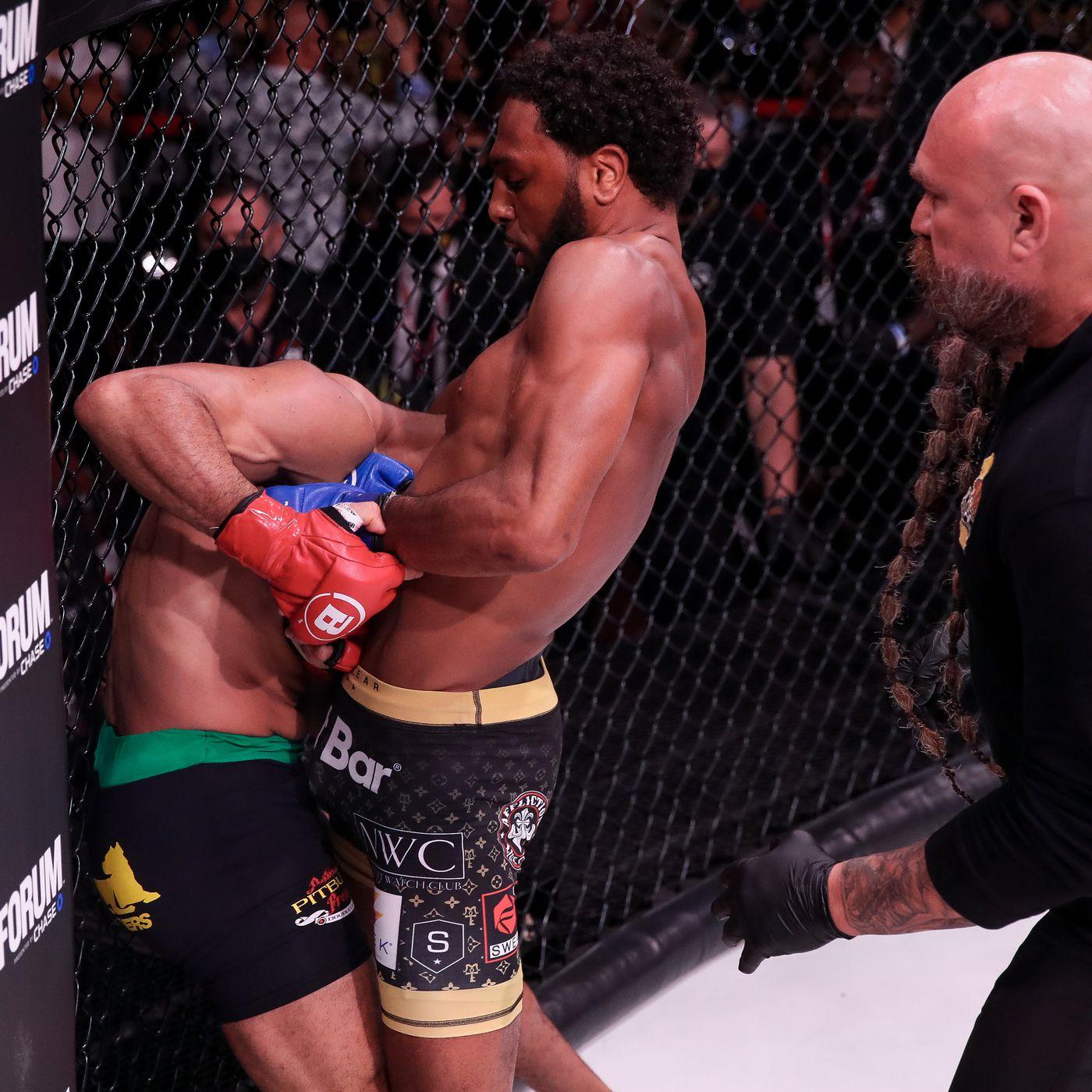 McKee strangled Freire, causing Freire to lose consciousness.  Photo: Bellator MMA