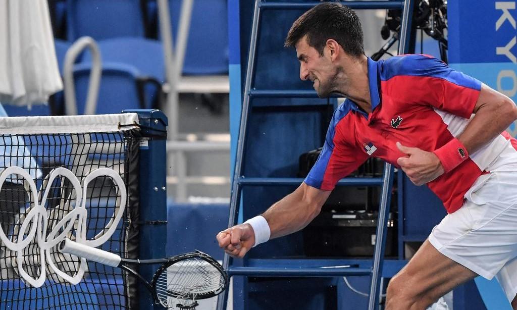 Djokovic berpartisipasi di tunggal putra dan ganda campuran di Olimpiade 2020 tetapi dengan tangan kosong.  Foto: AFP.