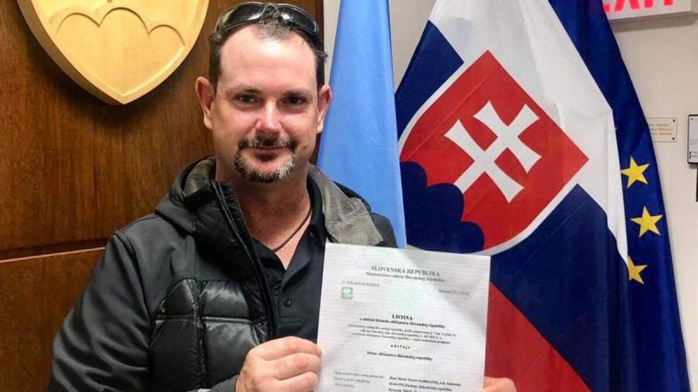 Sabbatini nhập quốc tịch Slovakia hồi 2018. Ảnh: The Golf News Net