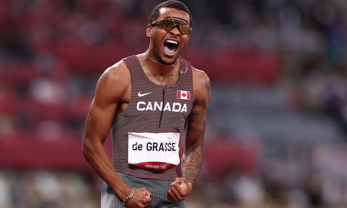 De Grass lập kỷ lục quốc gia Canada với thành tích 19 giây 26. Ảnh: PA.