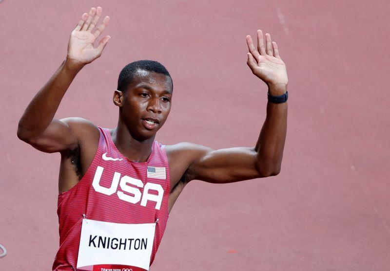 Knighton đang giữ kỷ lục VĐV dưới 20 tuổi chạy 200m nhanh nhất. Ảnh: Reuters.