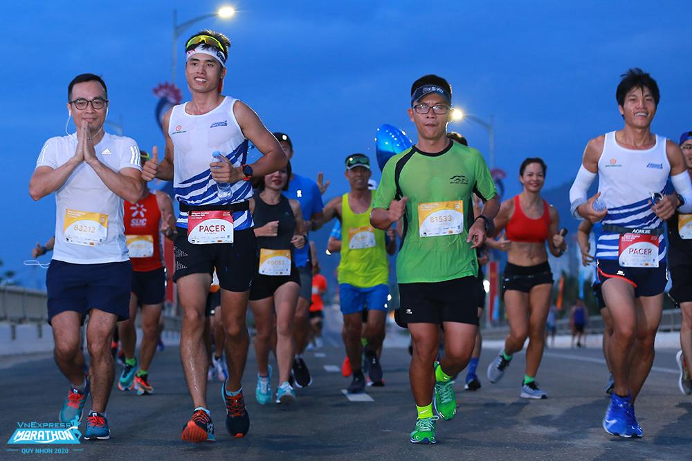 Athletes participate in VnExpress Marathon Quy Nhon 2020. Photo: VnExpress Marathon