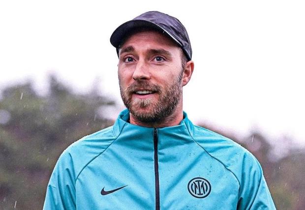 "Eriksen รู้สึกยินดีกับการกลับมาที่สโมสร  ภาพถ่าย: ""Inter."