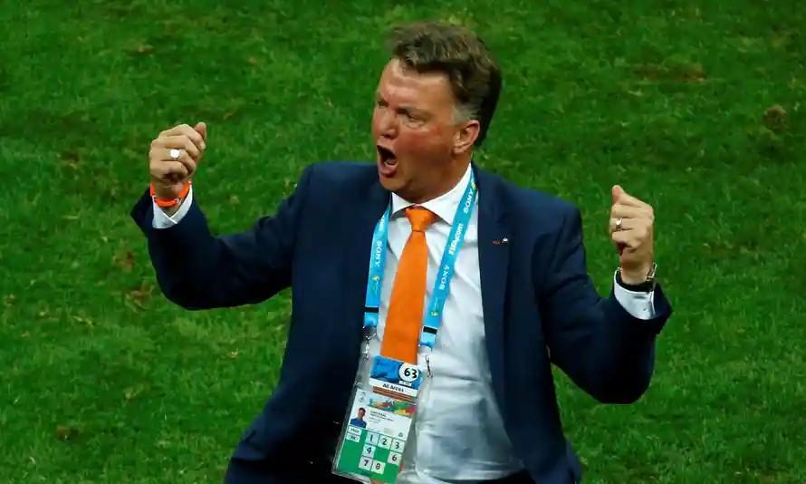 Van Gaal เป็นผู้นำเนเธอร์แลนด์ในฟุตบอลโลกปี 2014 ภาพ: Reuters