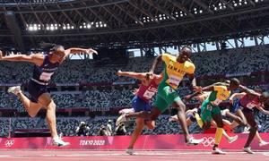 Chân chạy Jamaica thắng sốc cự ly 110m rào