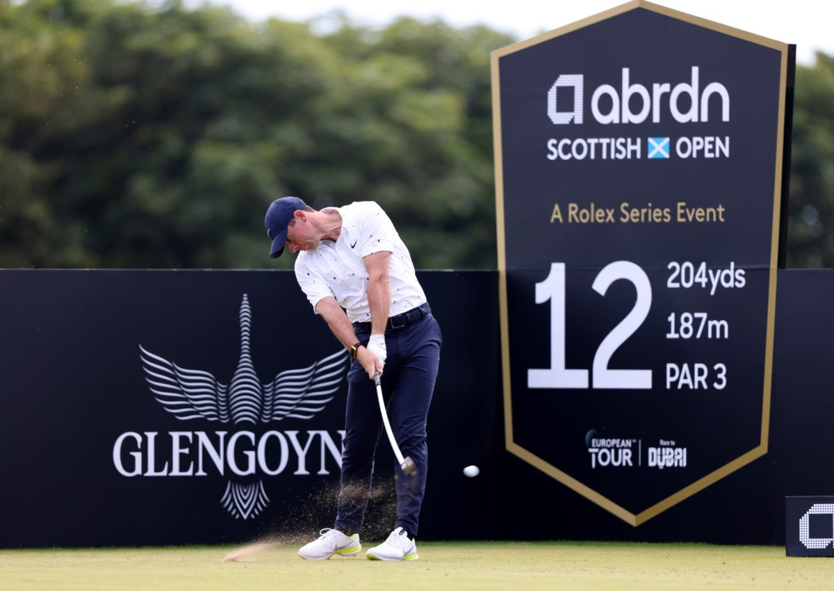 Rory McIlory competes at the Scottish Open in early July.  Photo: Reuters