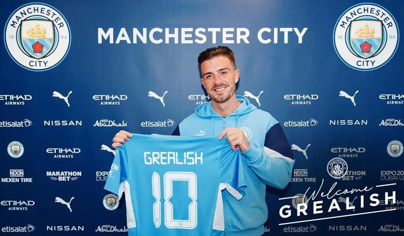 Grealish ใช้เวลาเจ็ดปีในการเล่นให้กับ Aston Villa ก่อนเข้าร่วม Man City  ภาพถ่าย: Twitter