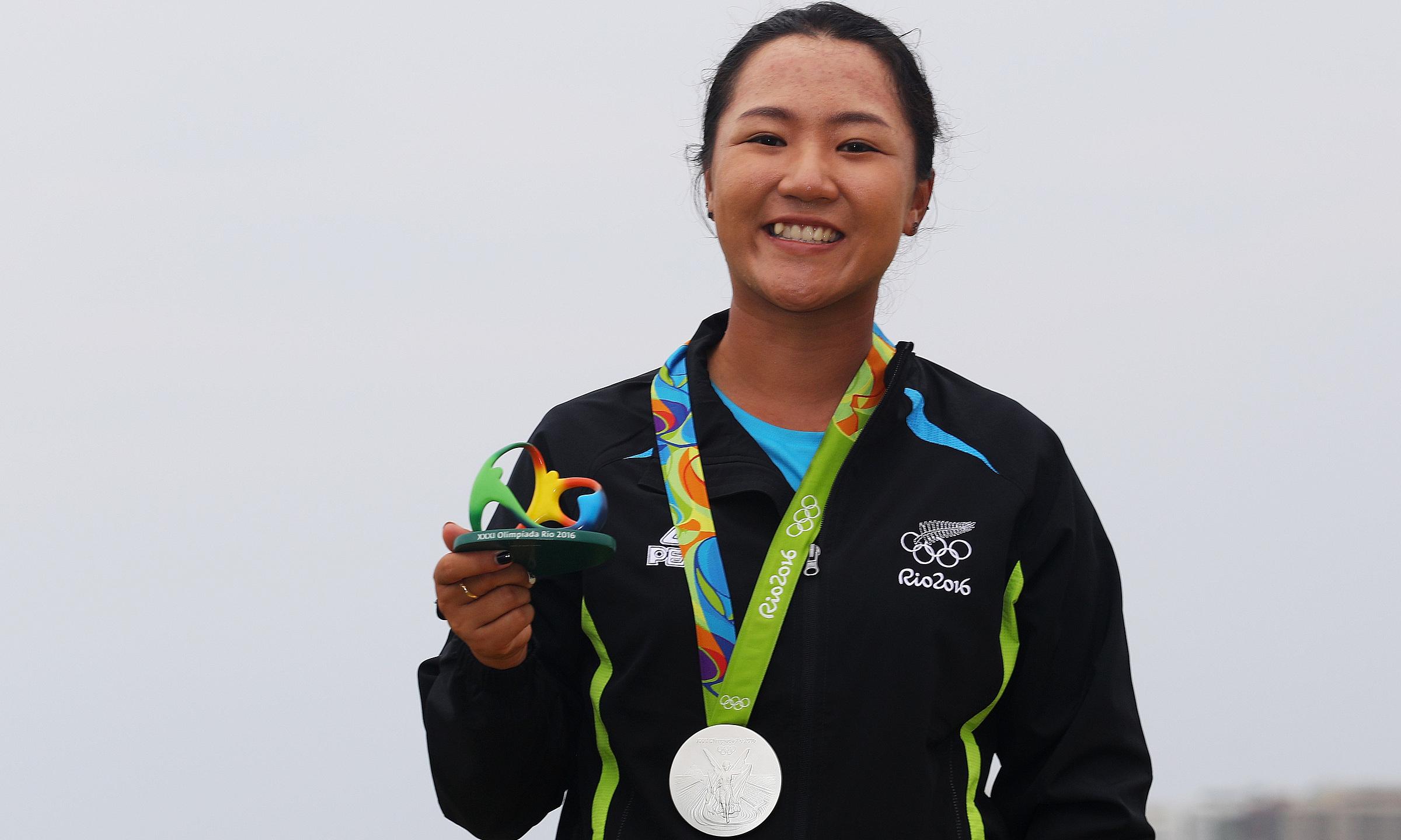 Ko trong lễ nhận huy chương ở Olympic Rio 2016. Ảnh: Team New Zealand