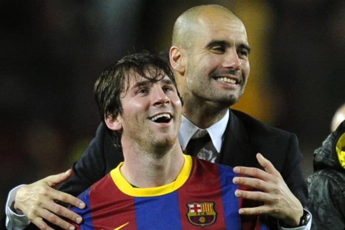 Guardiola và Messi có nhiều kỷ niệm đẹp khi cùng làm việc ở Barca. Ảnh: AS
