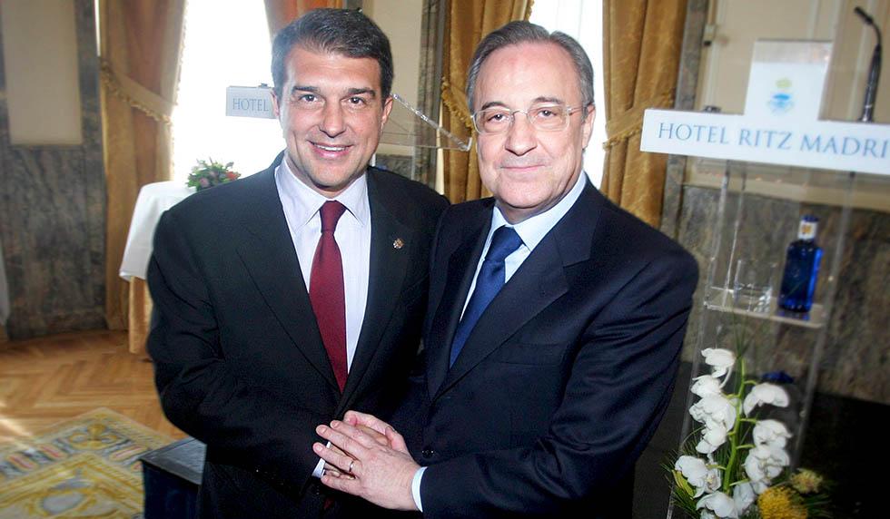"""Laporta และ Perez คัดค้านโครงการขายสิทธิ์การแสวงหาผลประโยชน์เชิงพาณิชย์ของ La Liga ให้กับ CVC  ภาพถ่าย: """"Marca ."""""""