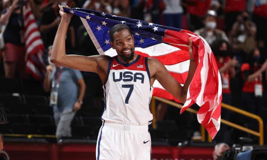 Durant giành HC vàng Olympic các năm 2012, 2016 và 2021. Ảnh: Reuters.