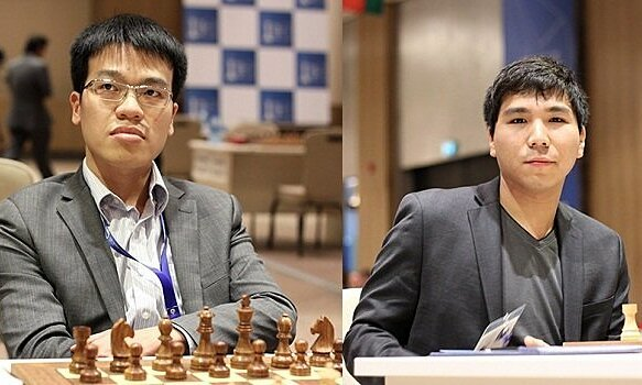 Quang Liem (left) and So first clashed in the final of a super tournament, even if it was just an online fast chess game.
